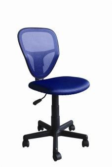 """כסא תלמיד דגם 'אור' בצבע כחול. בסיס הכסא עשוי פלסטיק 270 מ""""מ,כסא בעל גב ניילון ומנגנון הגבהה כסא שהופך את החזרה ללימודים מהנה יותר!   מידות חיצוניות בס""""מ: ג' 80.5-92, ע' 51.5, ר' 44."""