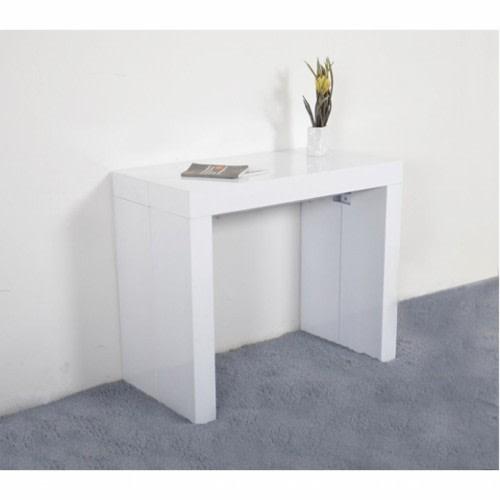 שולחן אוכל DOMINIC מודולרית שולחן נפתח ל- 3 מטרים בלי כסאות לבן