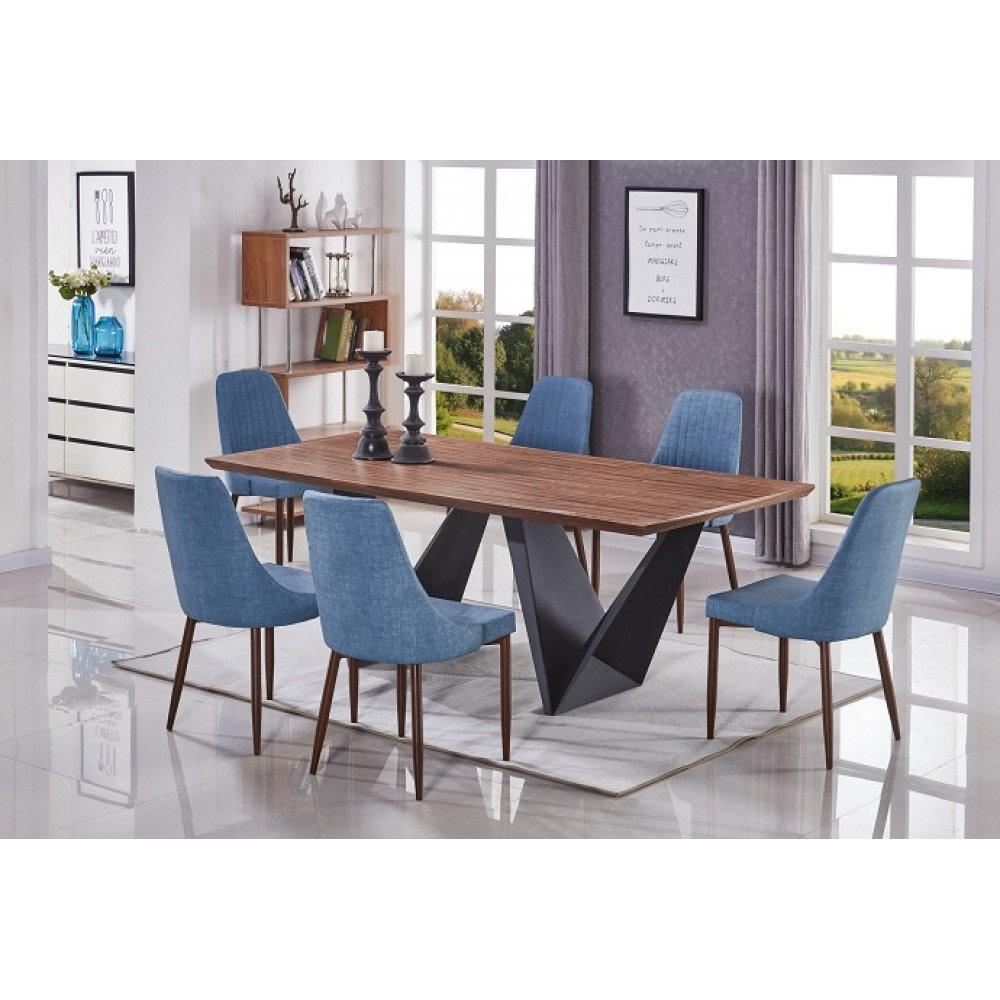 שולחן לפינת אוכל 2.00*1.00 רגלי מתכת 3211