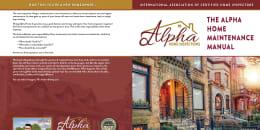 Custom Home Maintenance Book for Alpha Home Inspections