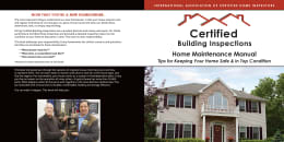 Custom Home Maintenance Book for Certified Building Inspections