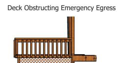 Deck Obstructing Emergency Egress