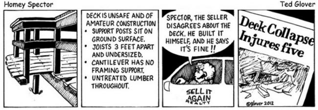 A DIYer's Deck Cartoon