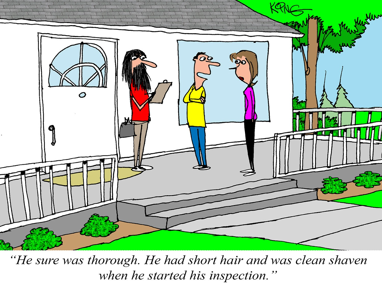 A Very Thorough Inspection Cartoon