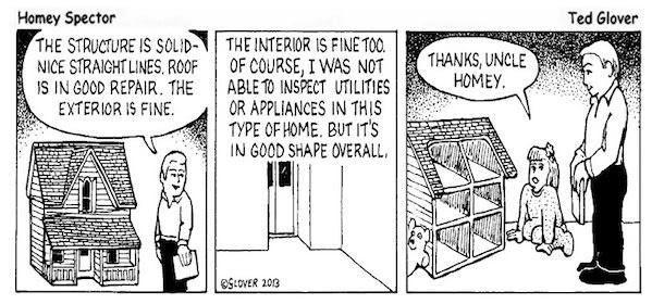 Doll House Inspection Cartoon