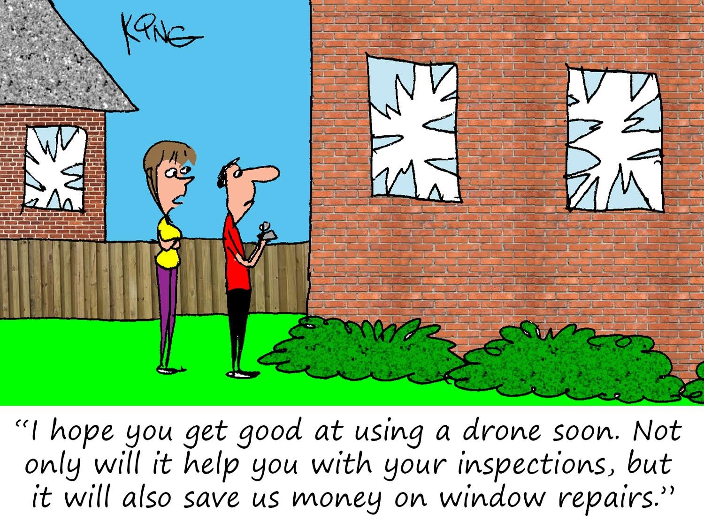Drone Practice Cartoon
