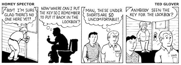 An Emergency on the Job Cartoon