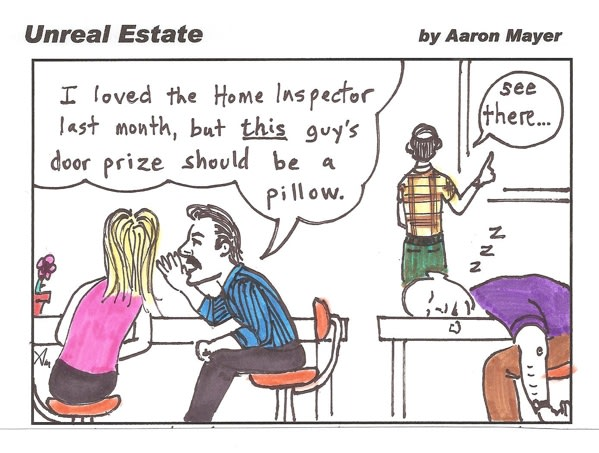 Home Inspection Event Door Prize Cartoon