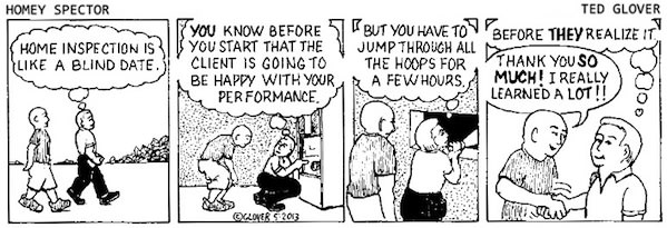 Home Inspection Is Like a Blind Date Cartoon