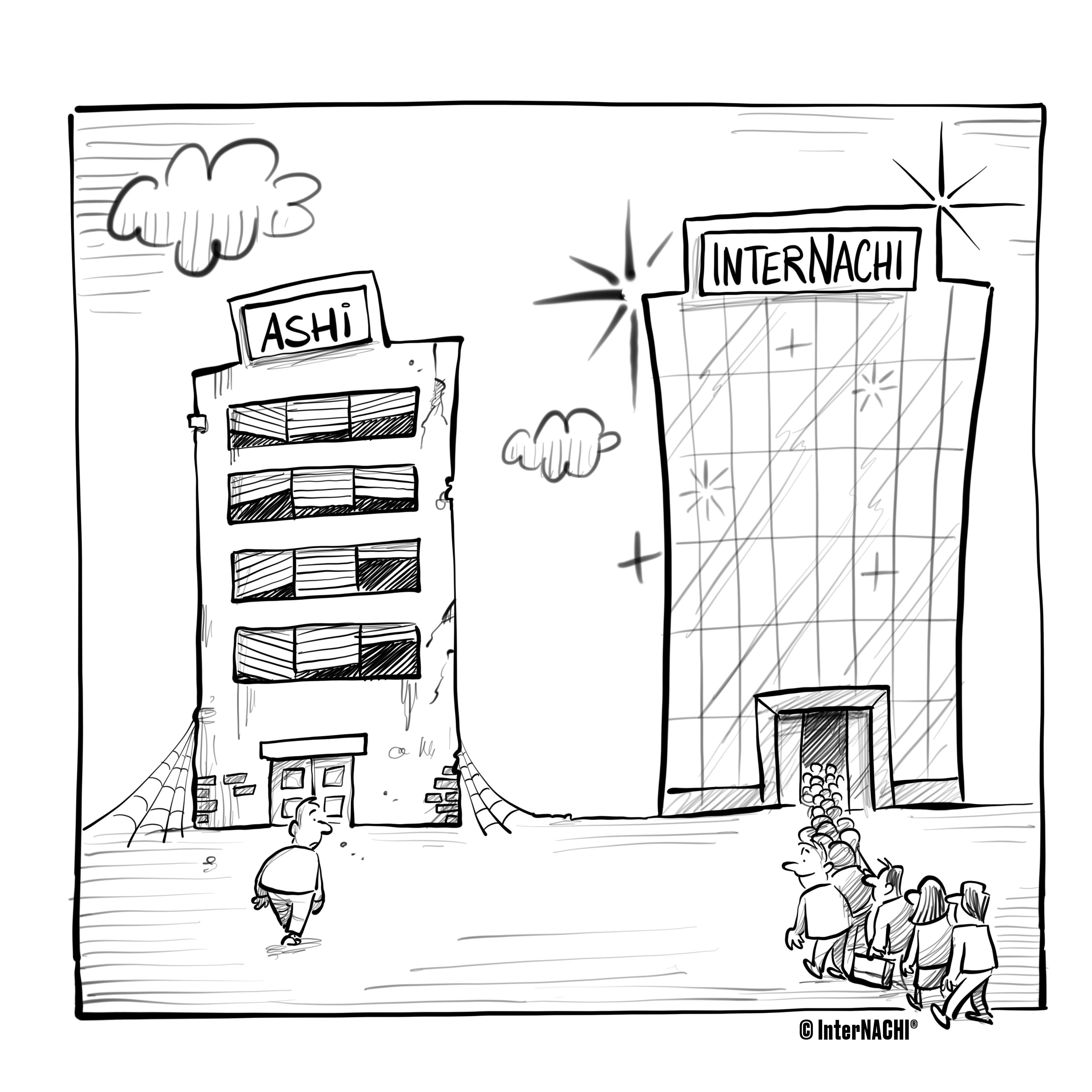 InterNACHI® vs. ASHI Inspection Cartoon