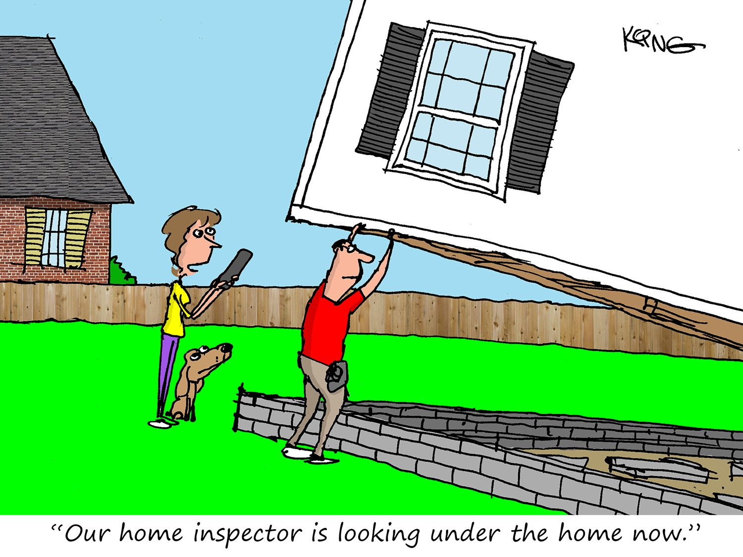 Looking Under the Home Cartoon