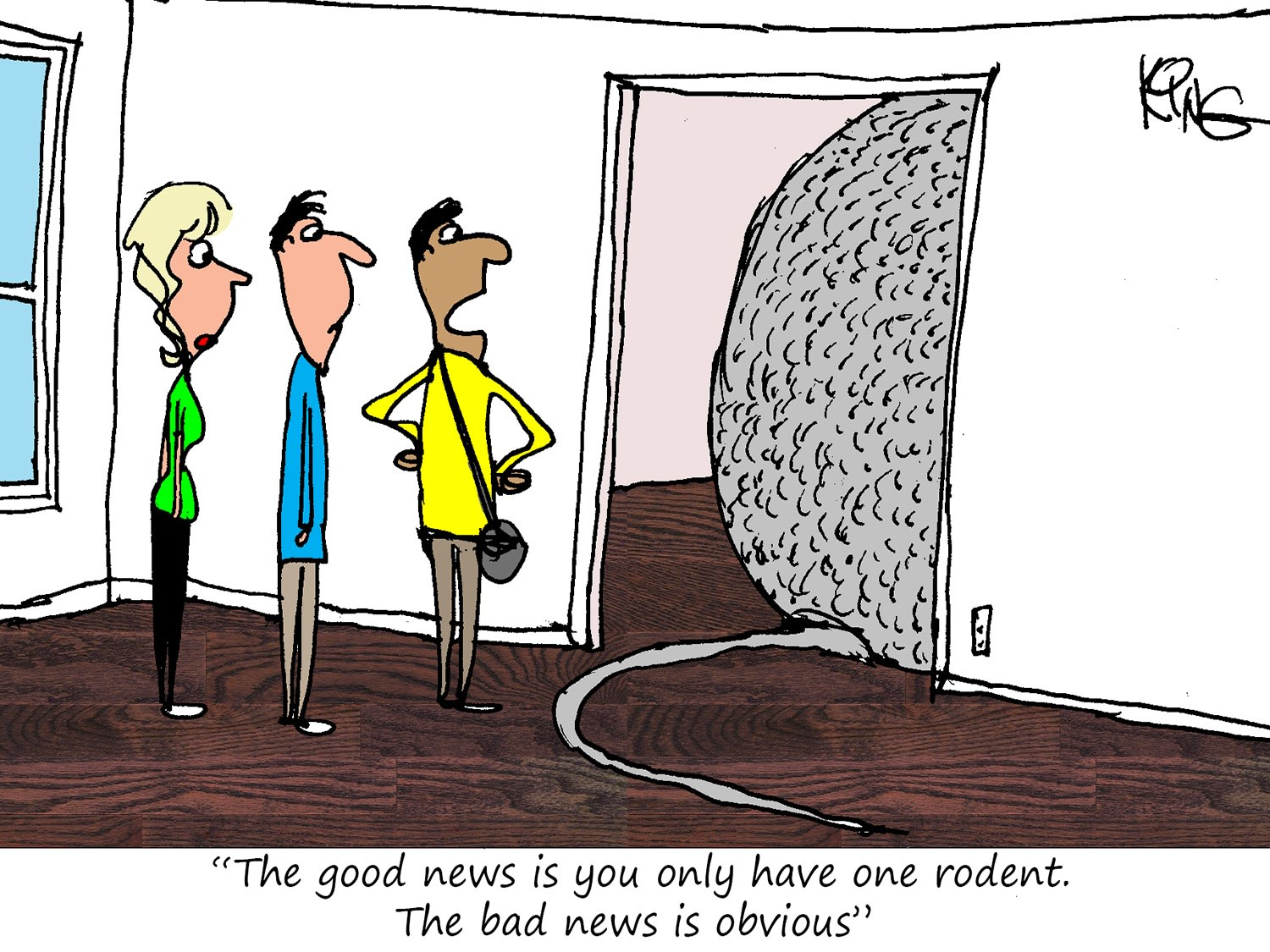 Only One Rodent Cartoon