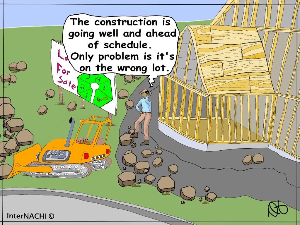 Oopsie, the wrong lot. Cartoon