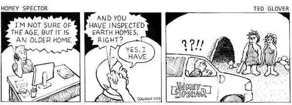 Prehistoric Home Inspection Cartoon