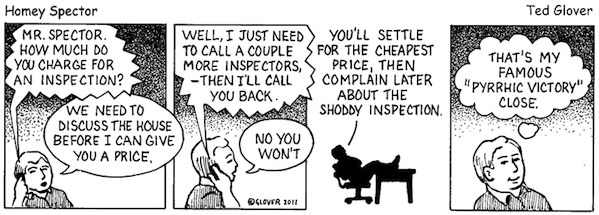 Price Shopping Client Cartoon