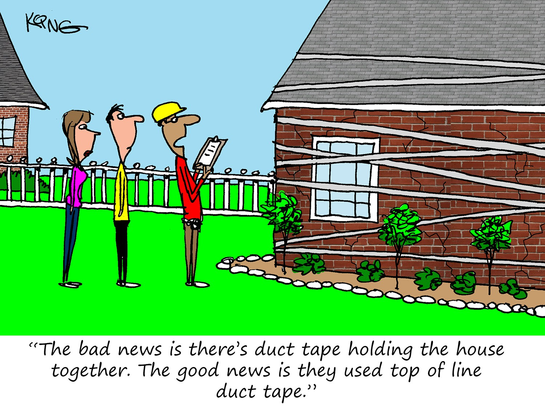 Quality Repair Materials Cartoon