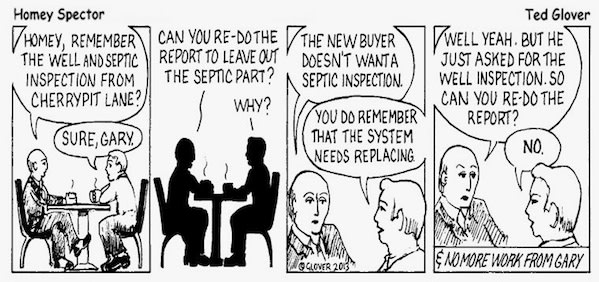 Reusing Home Inspection Reports Cartoon