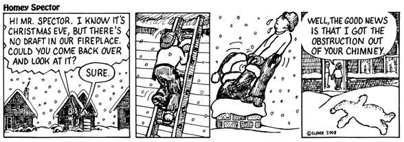 Santa-Safe Chimney Holiday Themed Cartoon