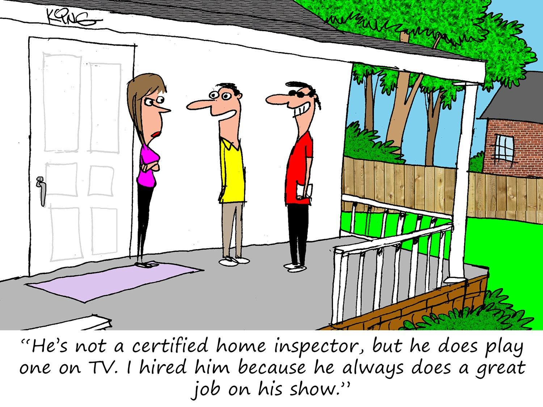 The Celebrity Inspector Cartoon