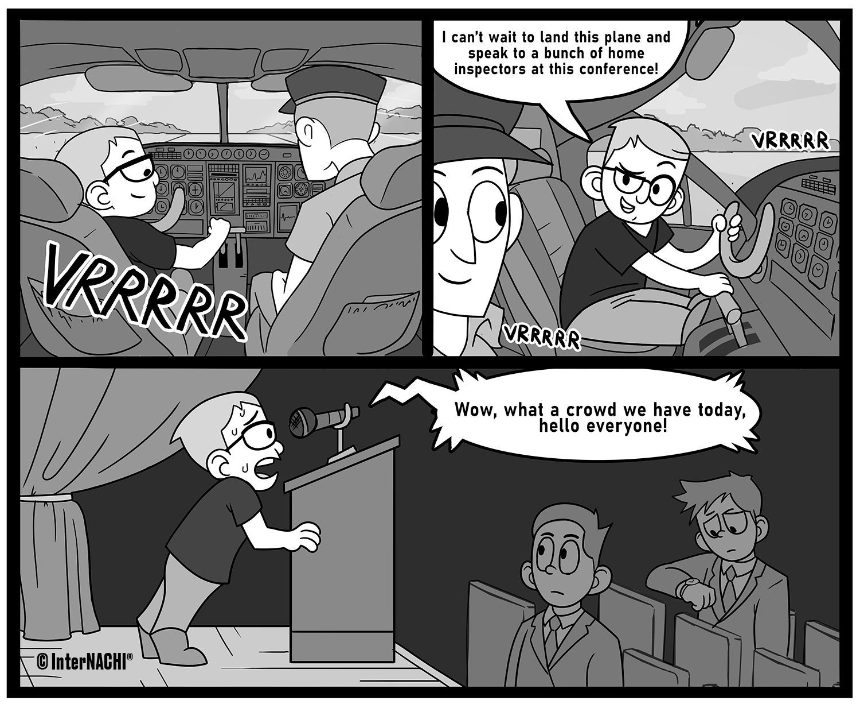 The Convention Pilot Cartoon
