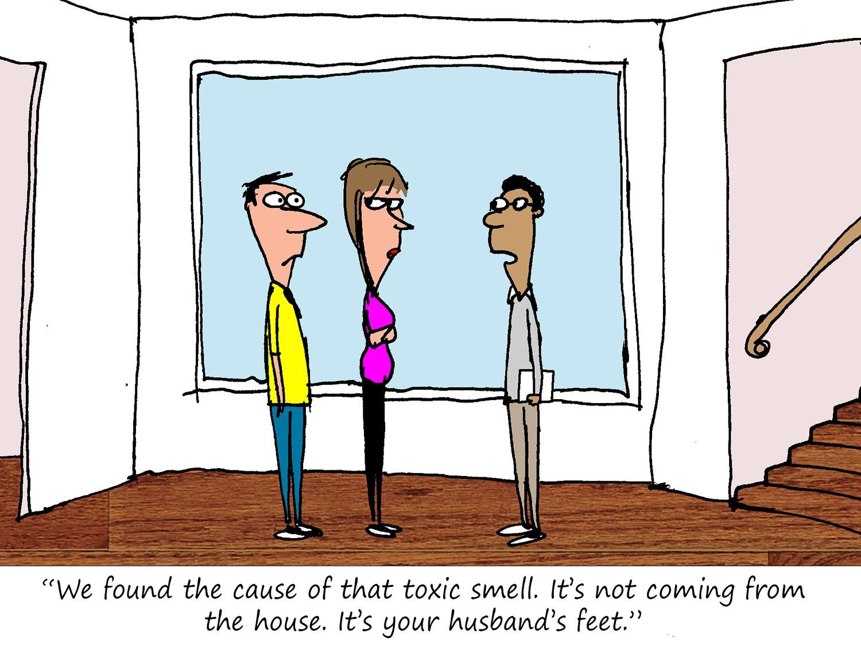The Toxic Feet Cartoon