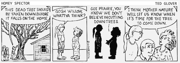 Tree Inspection Cartoon
