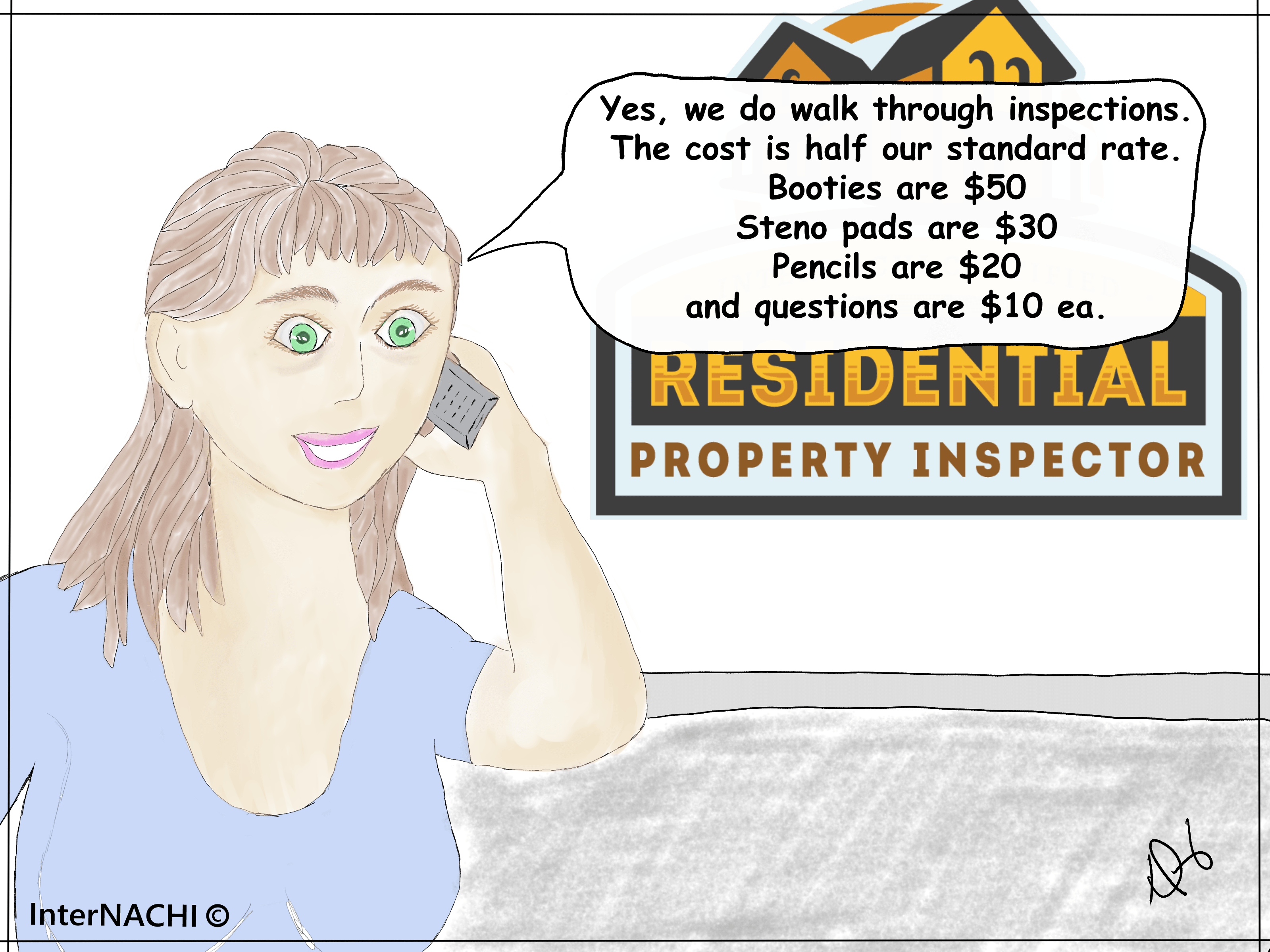 Walk-Through Inspection Cartoon