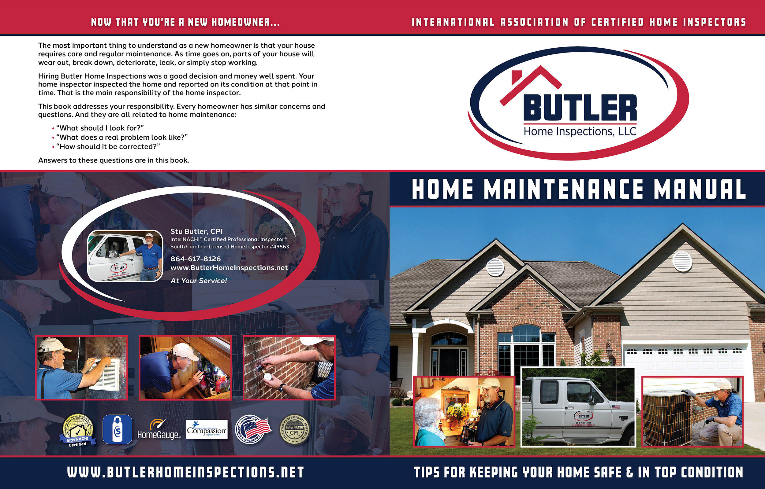 Custom Home Maintenance Book for Butler Home Inspections