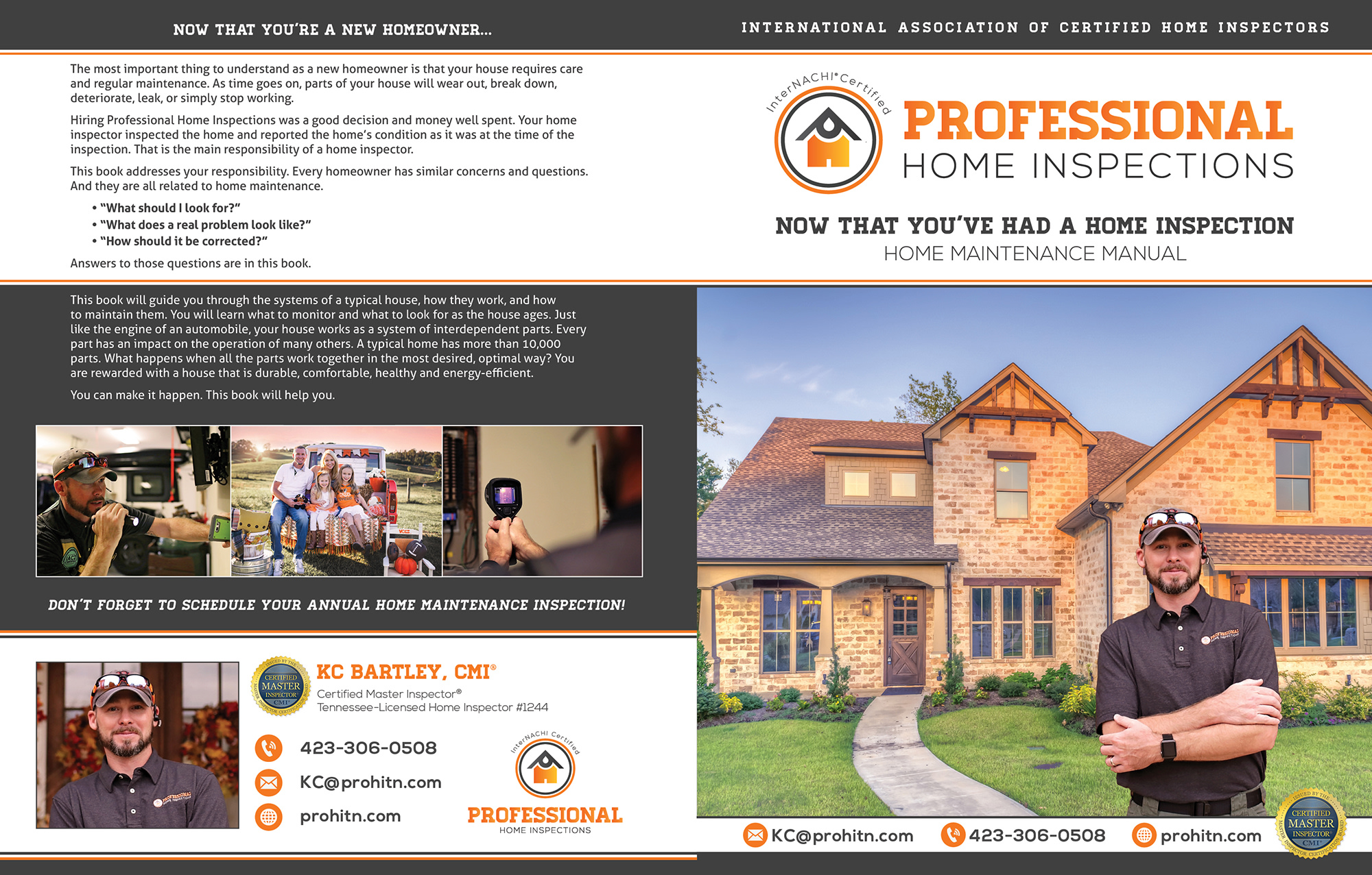 Custom Home Maintenance Book for Professional Home Inspections