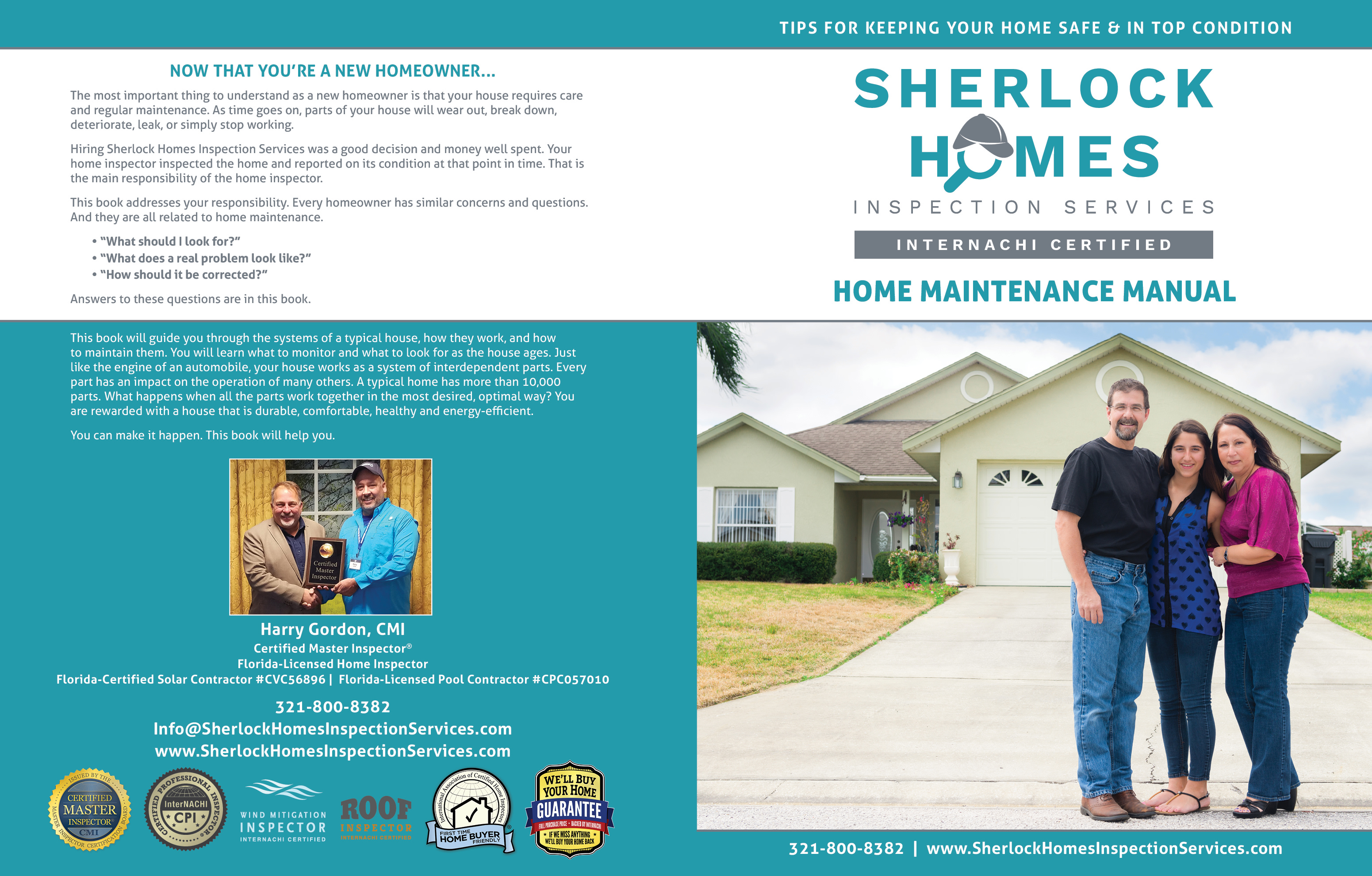Custom Home Maintenance Book for Sherlock Home Inspection Services