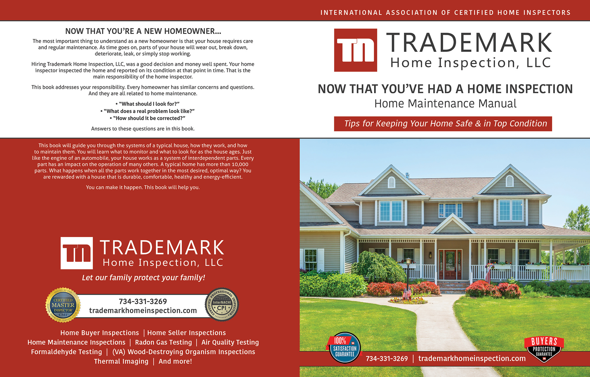 Trademark Home Inspections book