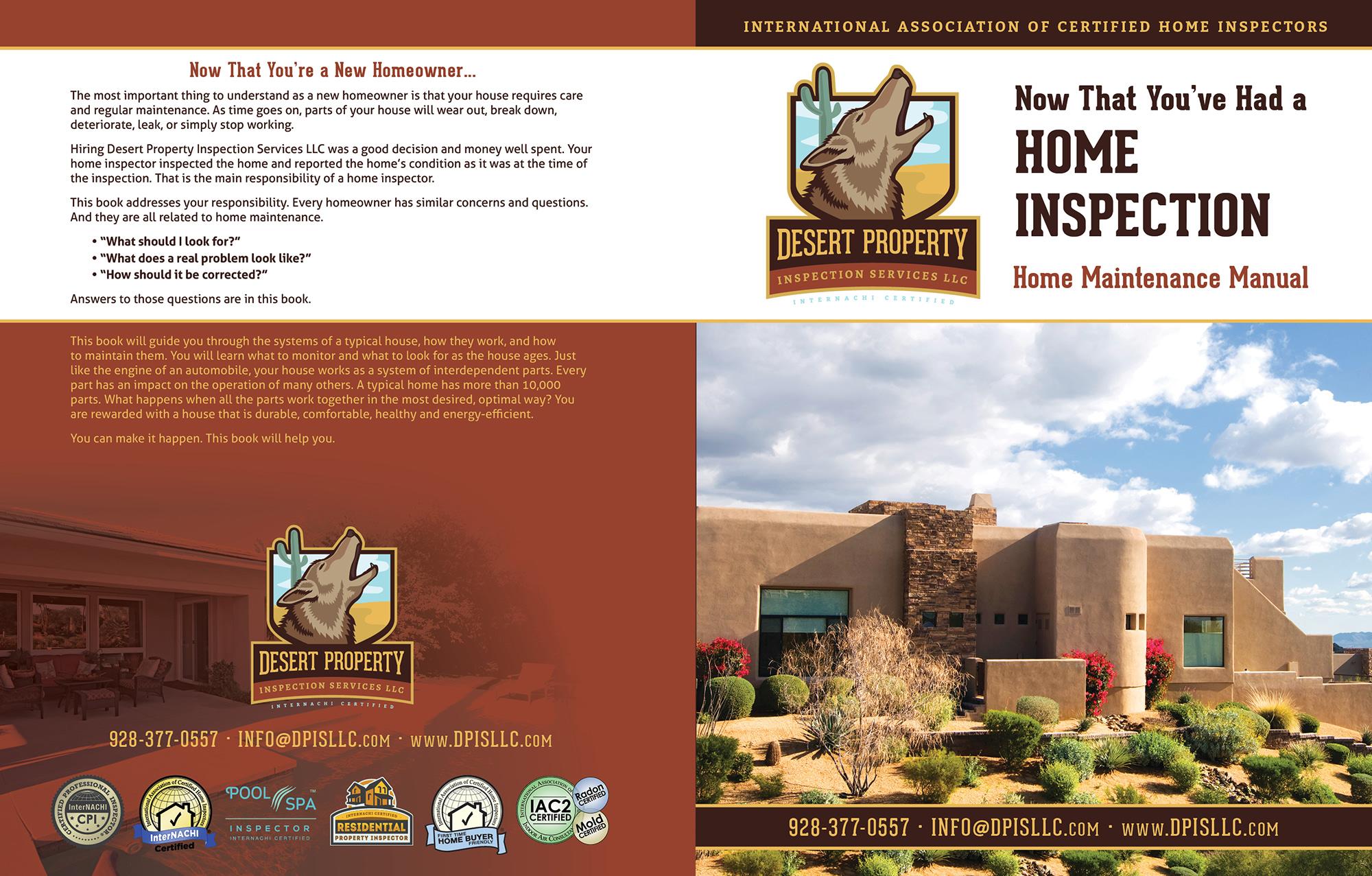 Custom Home Maintenance Book for Desert-Property-Inspection-Services