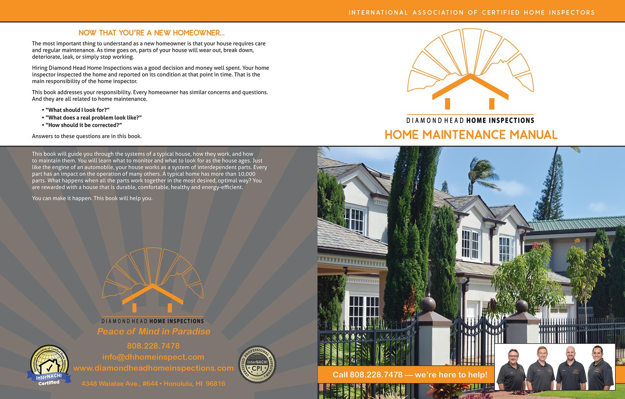 Diamond Head Home Inspection book