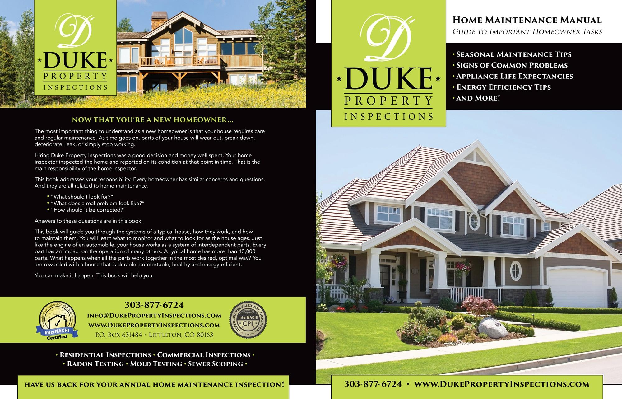 Custom Home Maintenance Books Beehive Home Inspections