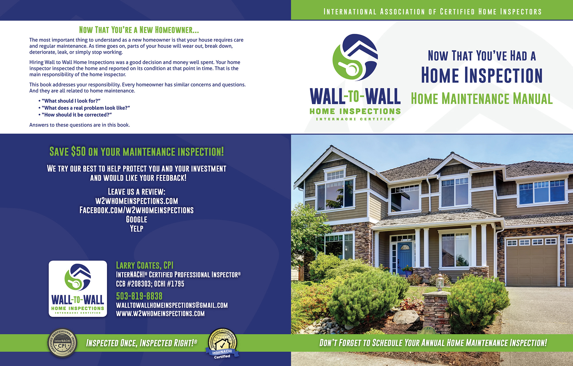 Wall to Wall Home Inspections book