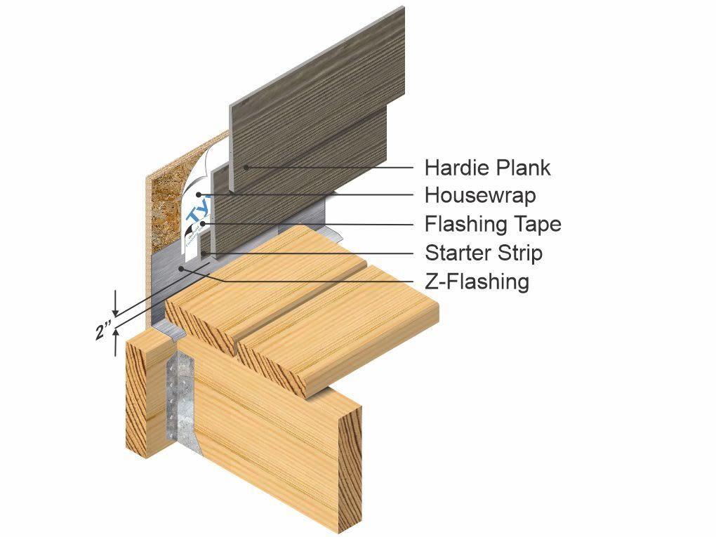 Hardie deck flashing