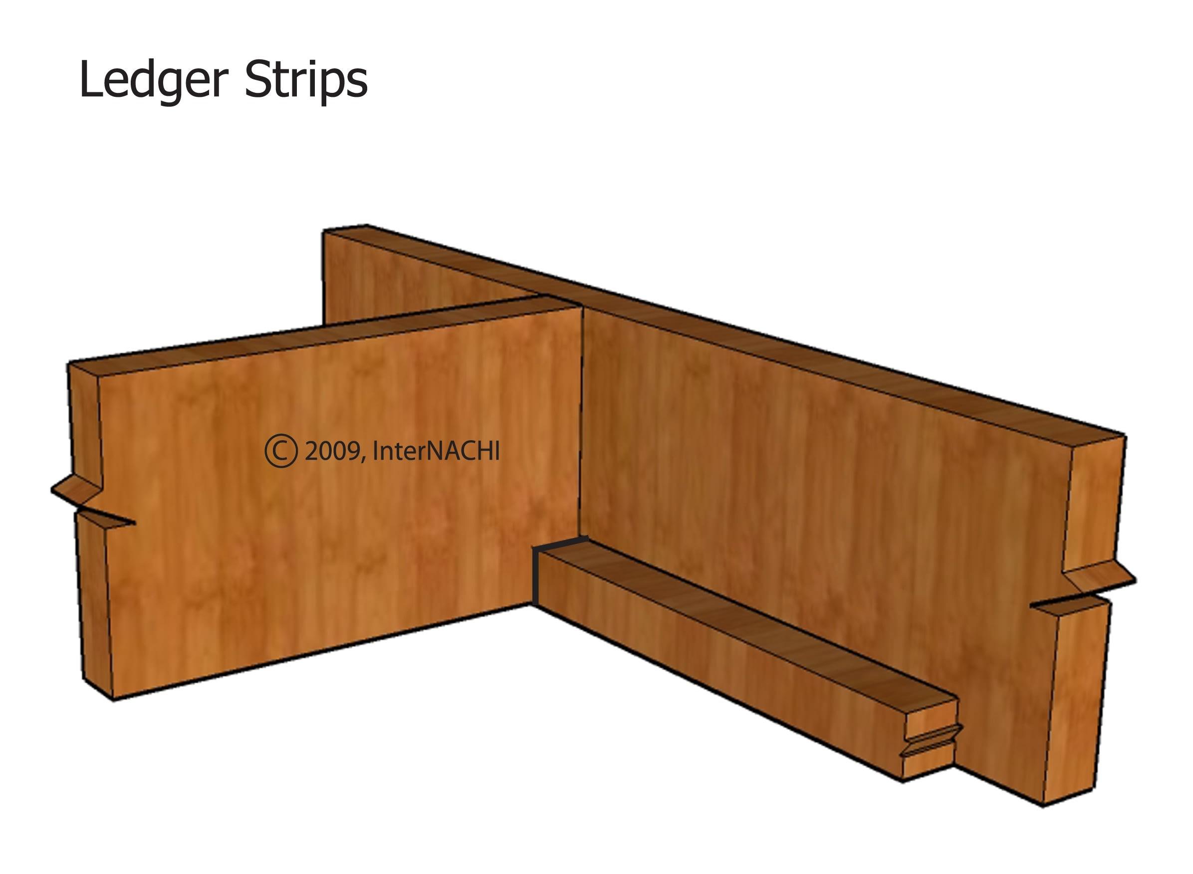 Notched ledger strip.