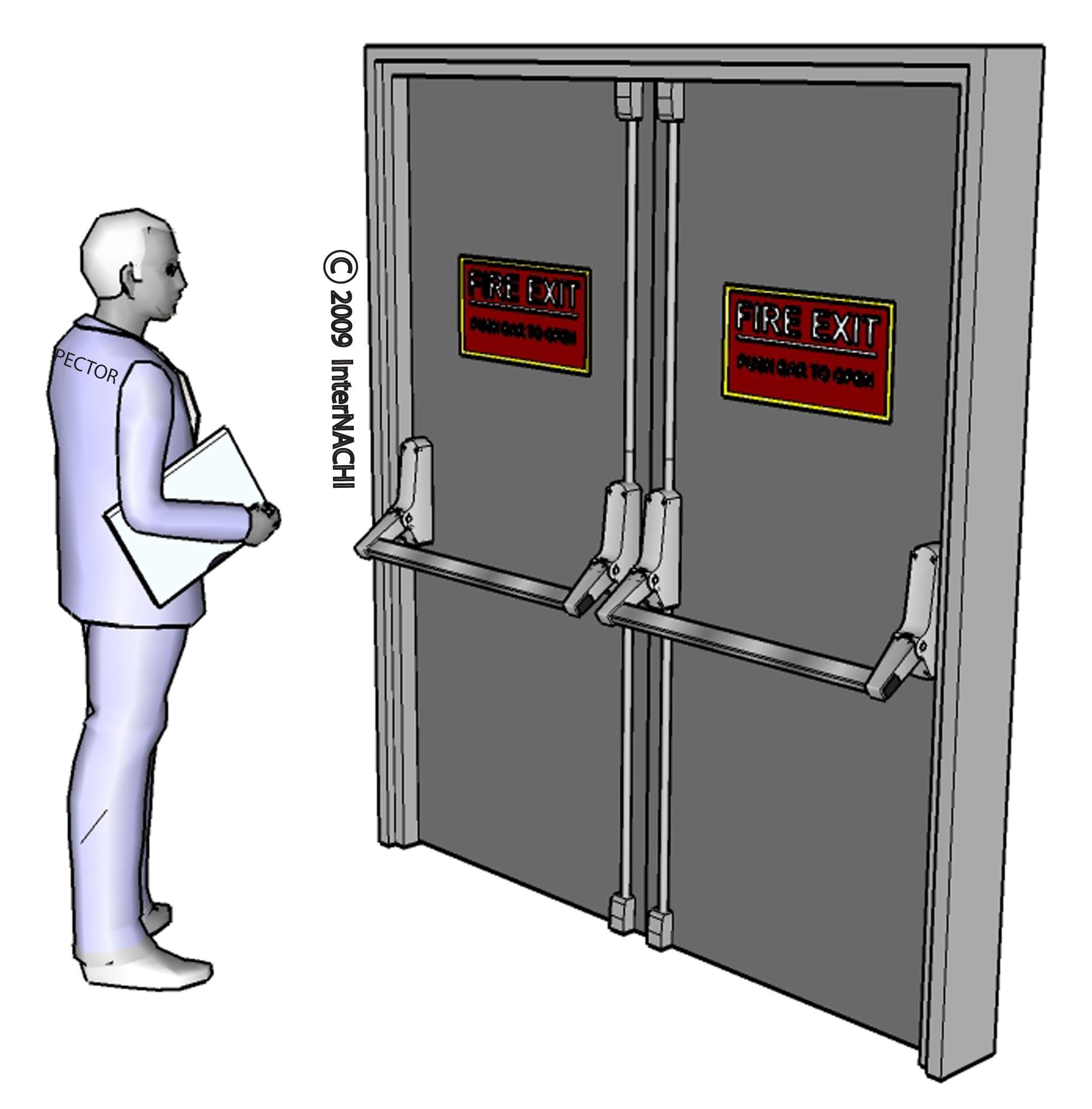 Fire door inspection.