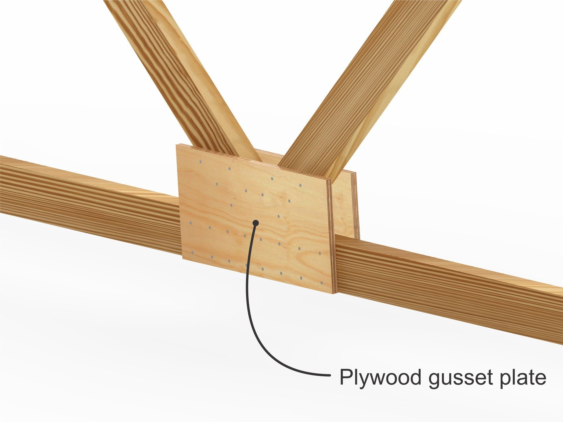 Plywood gusset plate
