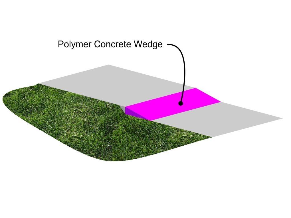Polymer concrete wedge