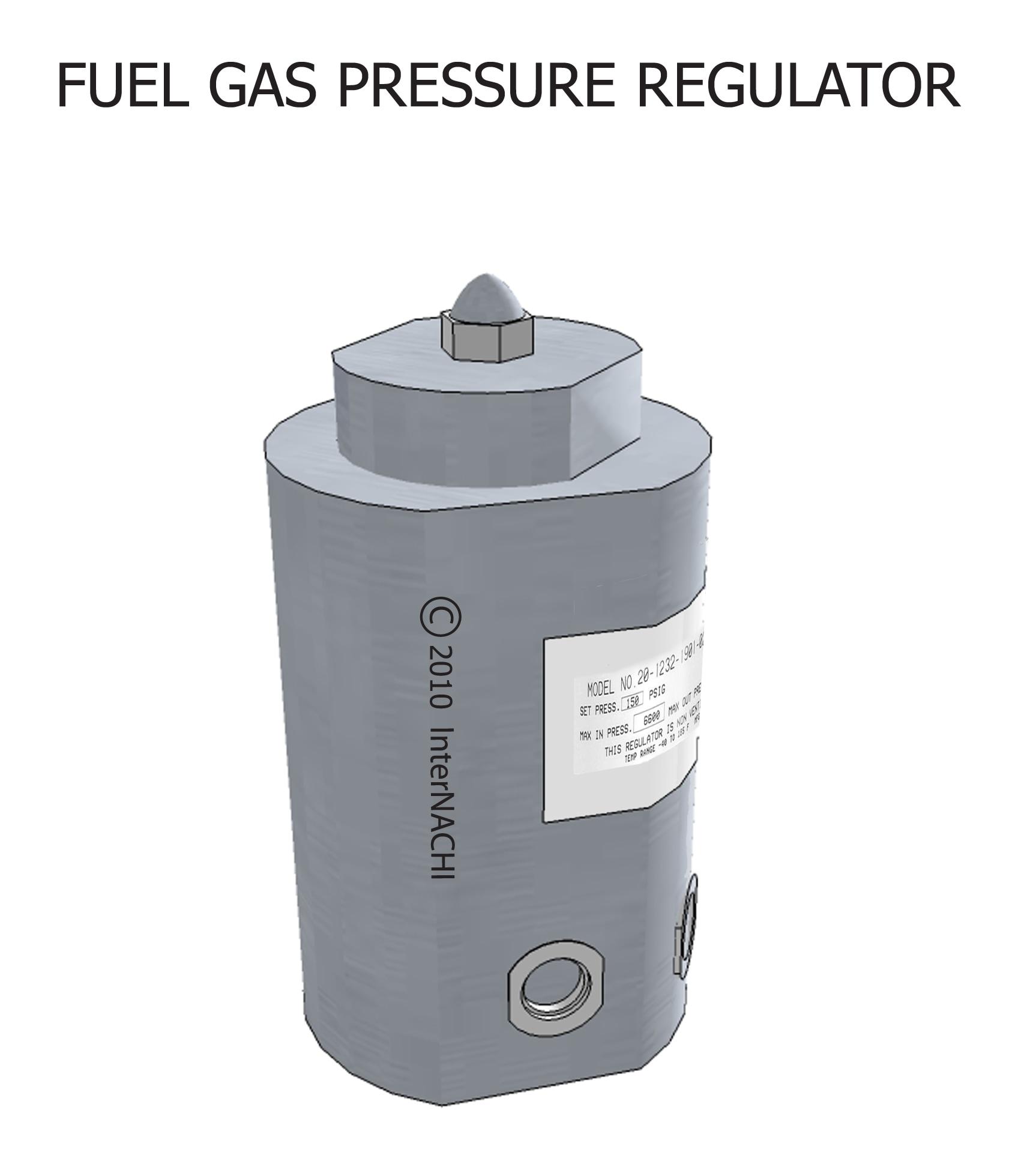 Fuel gas pressure regulator.