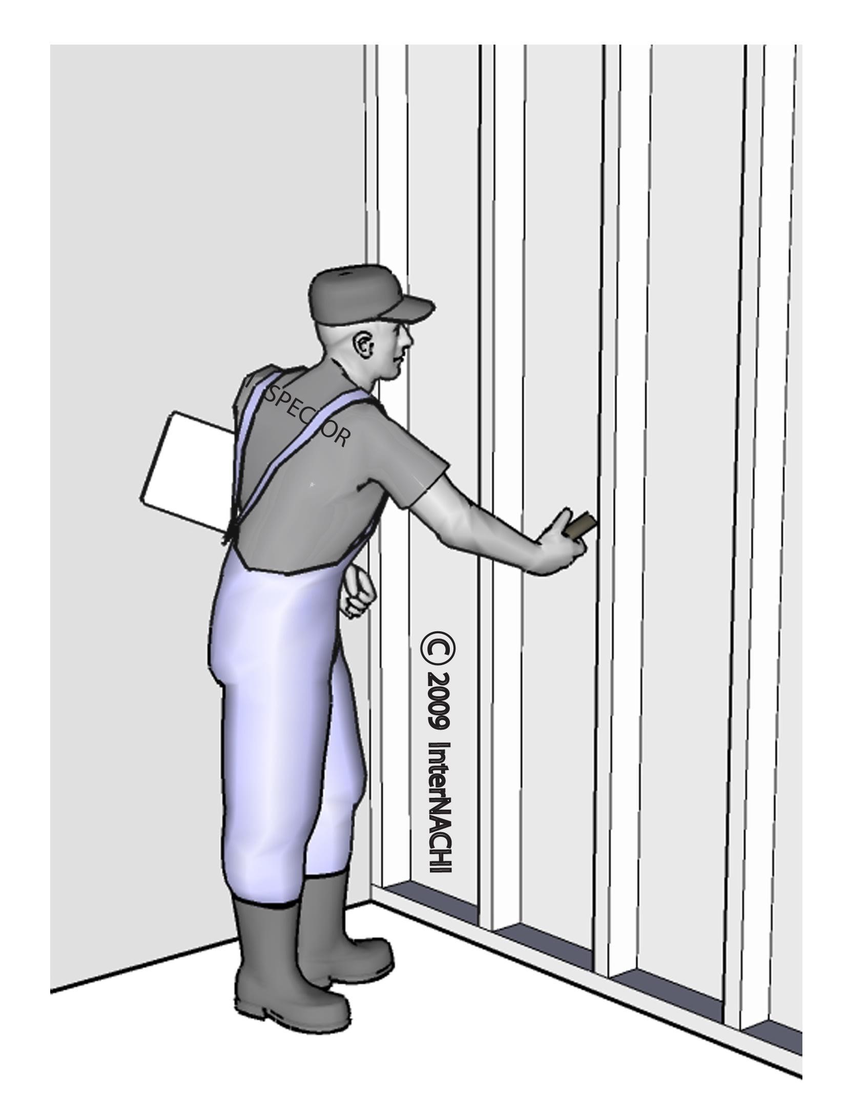 Moisture intrusion inspection.