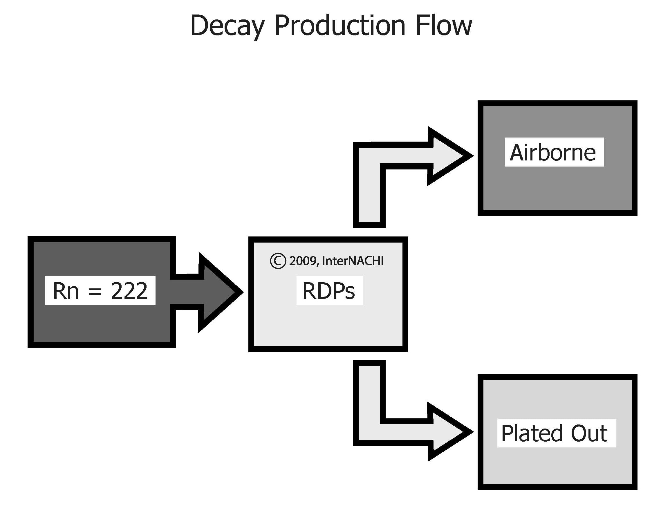 Decay production flow.