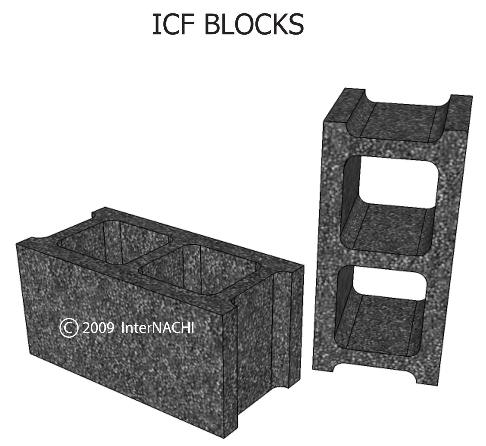 ICF blocks.