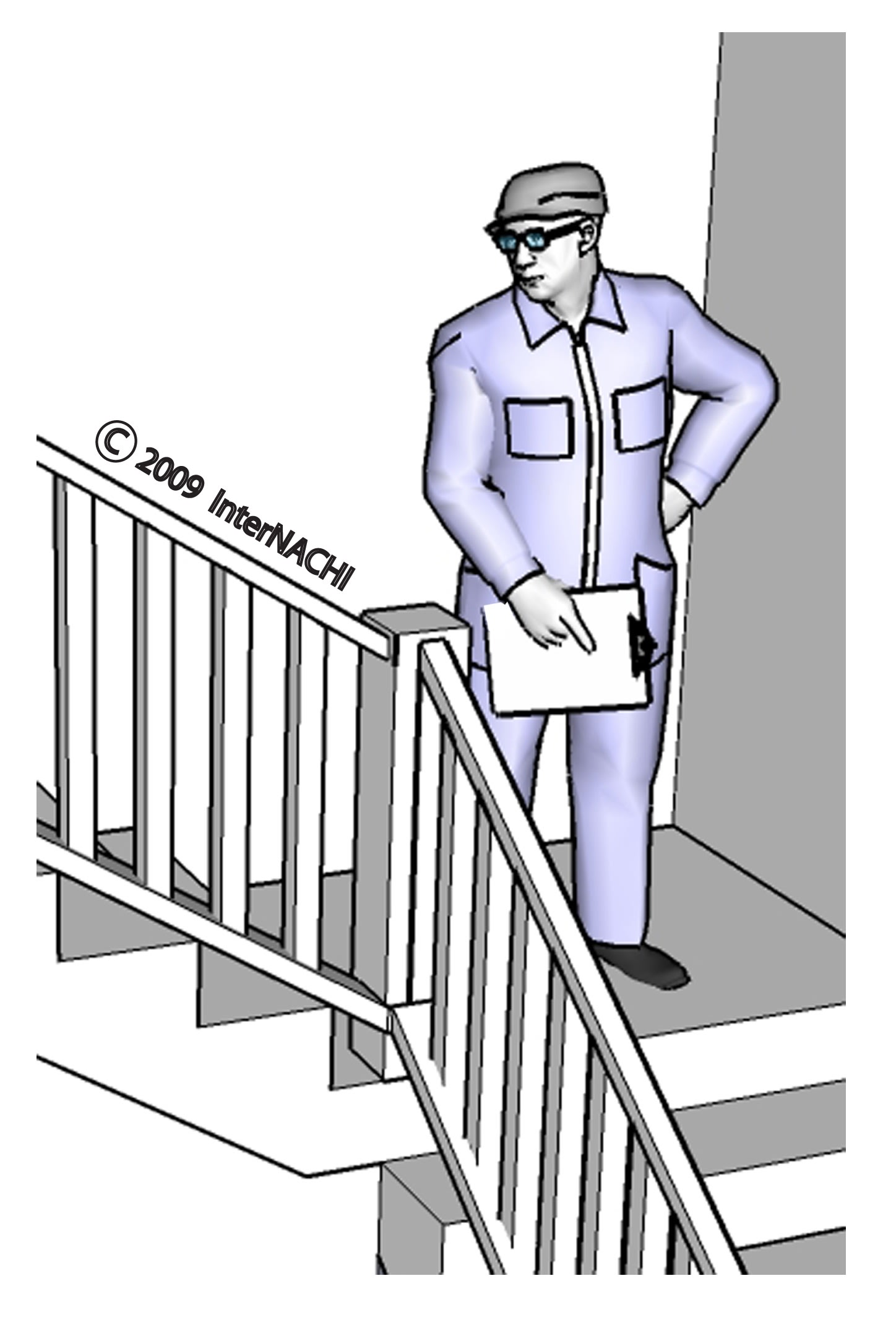 Stair inspection.