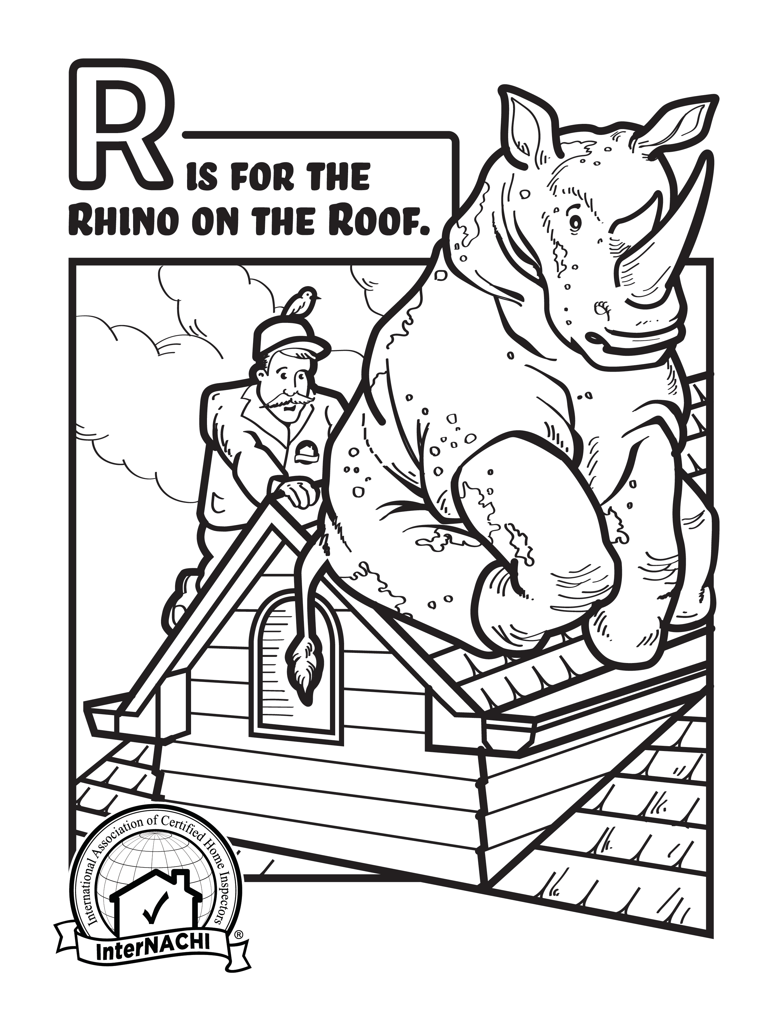Print several of these coloring sheets and keep them handy! Give them to children who attend the inspection or leave them behind. Just don't forget the crayons!