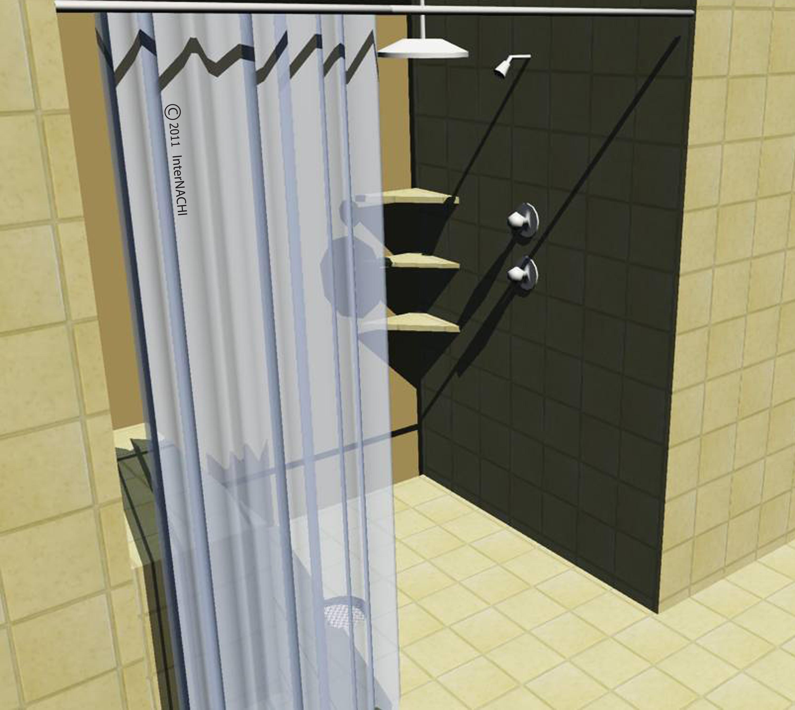 Curbless shower.