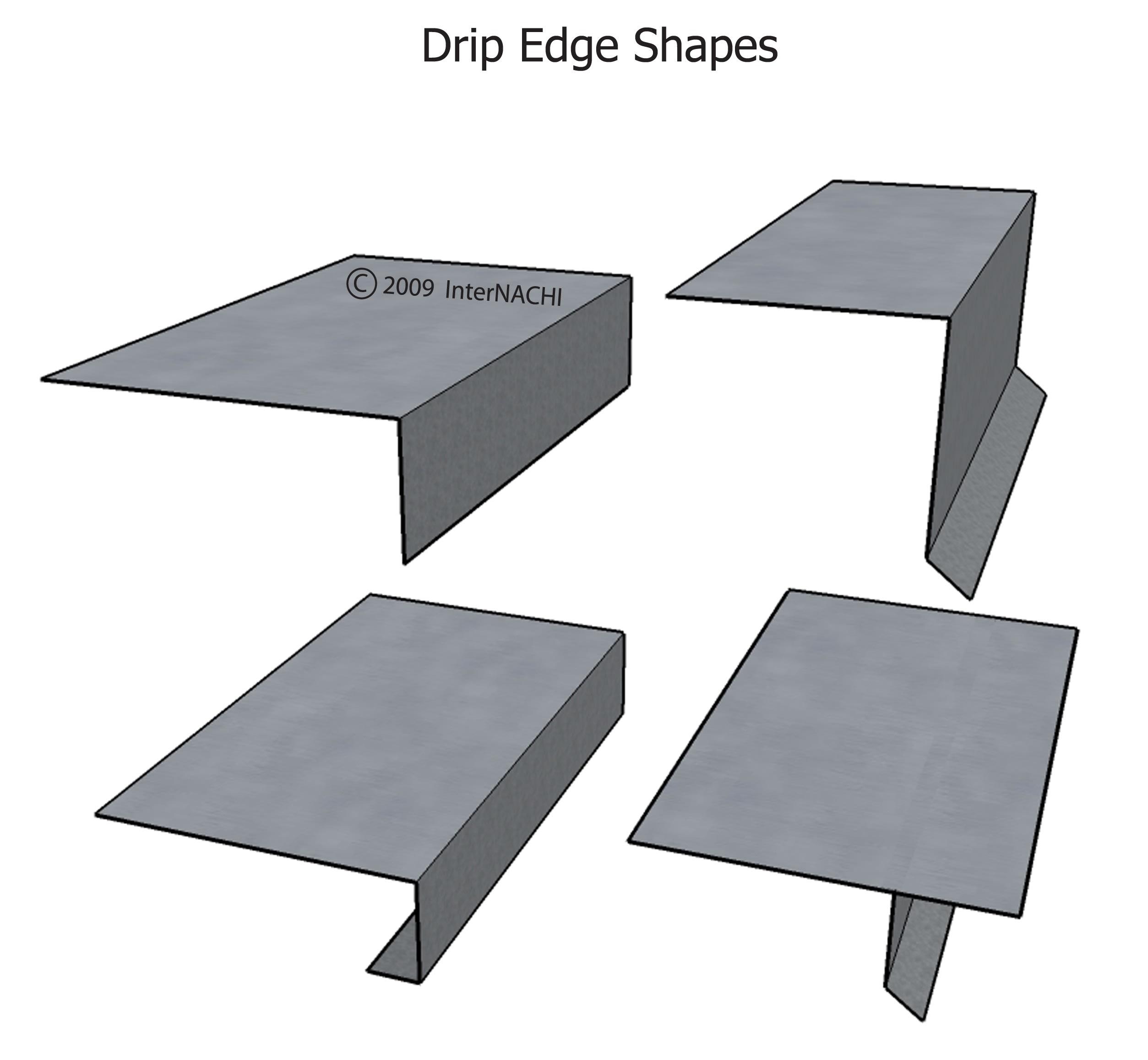Drip edge shapes.