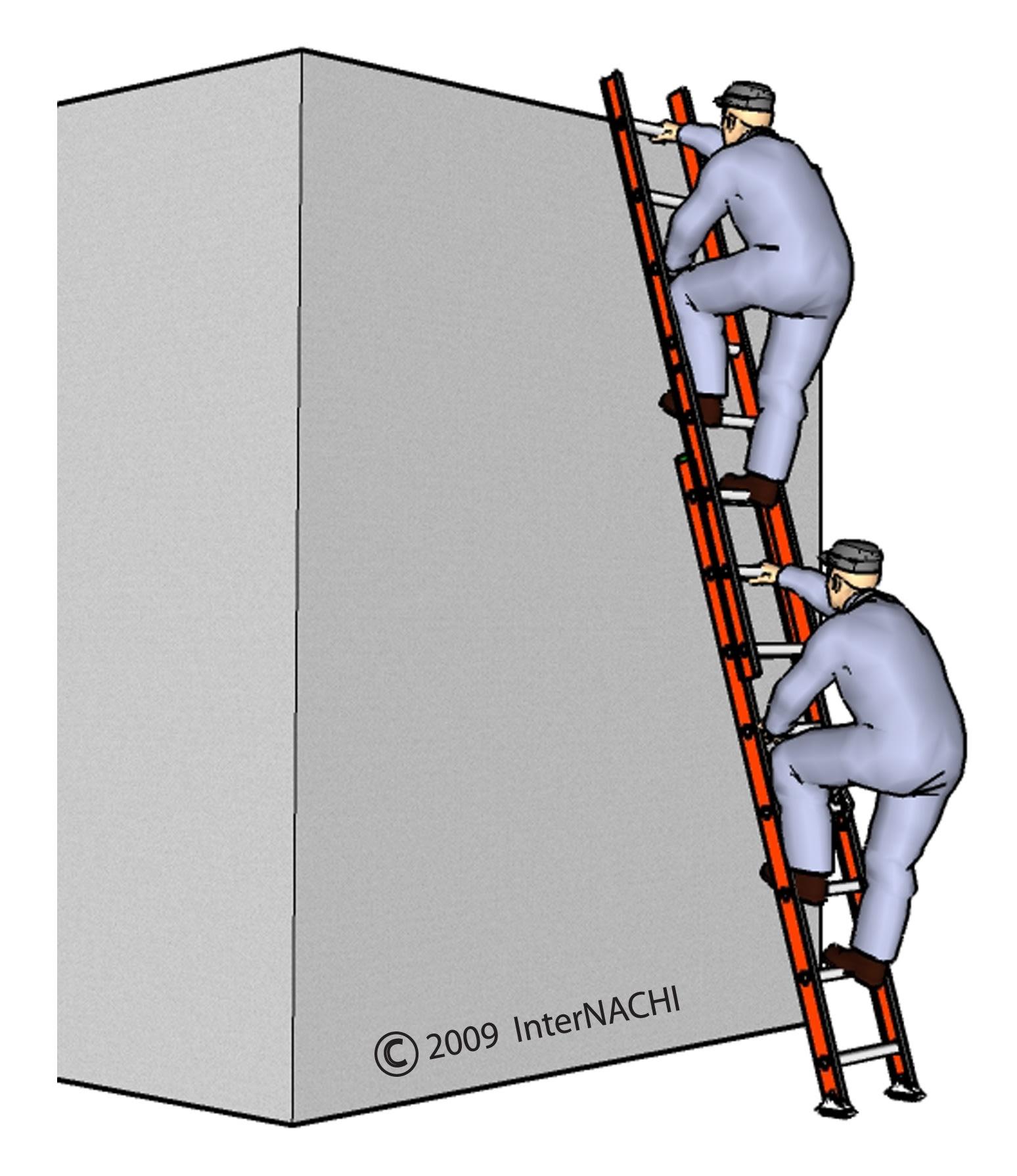 Two inspectors on a ladder (improper).