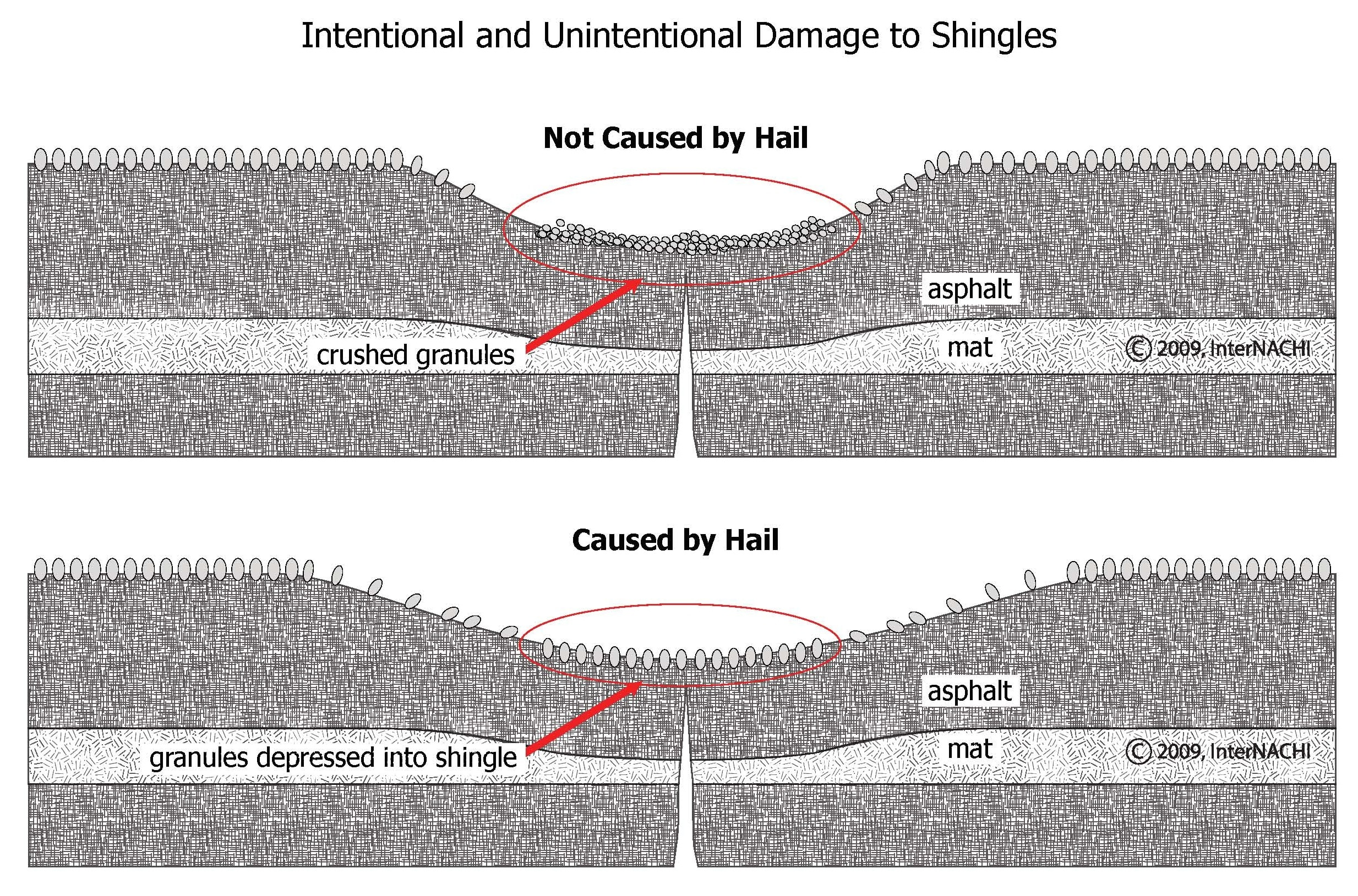 Intentional vs. unintentional damage.